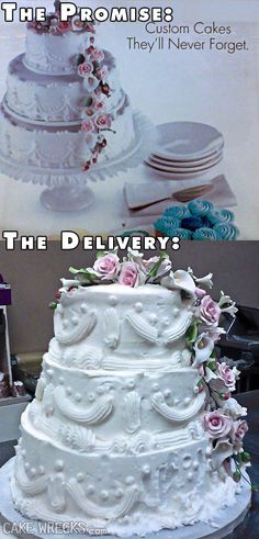 From CakeWrecks.com, a promise & a delivery.
