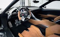 Toyota updates FT-1 concept car with new paint, interior materials