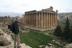 books of baal temples | two guys chillin' in the temple of Baal Photo - Baalbek