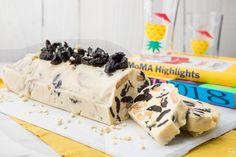 Κορμός λευκής σοκολάτας με δαμάσκηνα και αμύγδαλα Greek Sweets, Healthy Deserts, Dessert Recipes, Desserts, Sweet Recipes, Cereal, Dairy, Food And Drink, Pudding