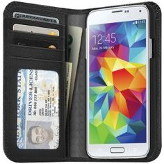 I'm selling ILUV SS5JSTYBK Samsung� Galaxy S� 5 Jstyle� Full Grain Leather Wallet Case - $69.99 #onselz