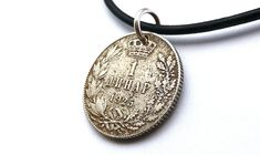 Your place to buy and sell all things handmade Coin Jewelry, Coin Necklace, Leather Necklace, Necklaces, Sliding Knot, Drawstring Pouch, Serbian, Coin Pendant, Necklace Lengths