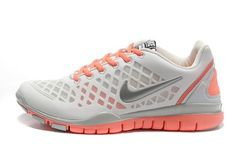 the latest 8f237 955c6 Nike Free TR Fit 2 Womens Granite White Metallic Silver Orange 304214 507 Nike  Free Shoes