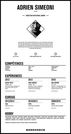 To get the job, you a need a great resume. The professionally-written, free resume examples below can help give you the inspiration you need to build an impressive resume of your own that impresses… Curriculum Vitae Resume, Curriculum Design, Creative Curriculum, Great Resumes, Creative Resume Templates, Resume Examples, Cv Design, Resume Design, Design Ideas