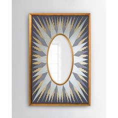 John-Richard Collection Sunna Oval Mirror ($2,500) ❤ liked on Polyvore featuring home, home decor, mirrors, multi colors, mirrored mirror, oval mirror, handmade home decor, accent mirrors and vertical mirror
