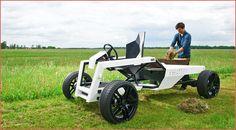 Leichtbau UTV: Elektro Traktor Kulan Bisher waren Leichtbauweise und Elektroantriebe vor allem bei schicken Stadt-Autos wichtig. Mit dem Elektro Traktor Kulan könnte sich das bald ändern http://www.atv-quad-magazin.com/aktuell/leichtbau-utv-elektro-traktor-kulan/