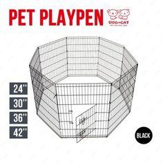 8-Panel-Pet-Playpen-Dog-Cage-Kennel-Crate-Metal-Enclosure-Fence-Indoor-Outdoor