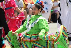 International costumes in the parade