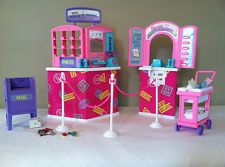 Barbie So Much To Do Post Office Playset Furniture COMPLETE 1995 Mattel GREAT
