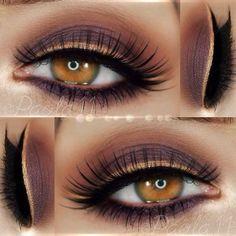 Brown Palette for Golden Eyes Look