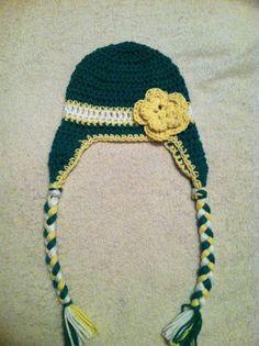 Baby John Deere or Packer crochet hat 05df5ece1830