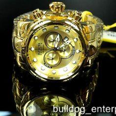 e540421620ce Hombres Invicta Reserve Venom alto pulimento Chapado En Oro Suizo  Cronógrafo Reloj Nuevo Relojes Suizos