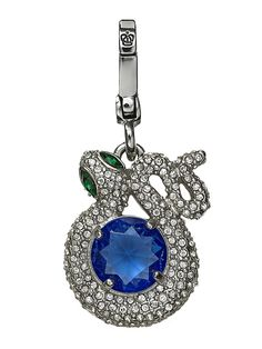 Juicy Couture Pave Snake W Blue Center Charm, Silvertone >>> Read more reviews of the product by visiting the link on the image.