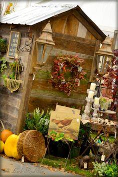 Pinecreek Nursey potting shed. LoVe garden ~junk~. From the Ruffles and Rust Show Monroe, Wa.