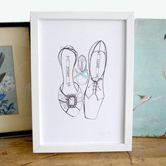 personalised new babies shoe print by tinker & tailor | notonthehighstreet.com