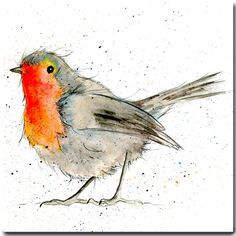 Robin Christmas Card - Bird Greeting Card, Blank Inside, Garden Bird Card by SarahBoddyUK on Etsy https://www.etsy.com/uk/listing/206992132/robin-christmas-card-bird-greeting-card