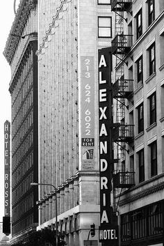 Alexandria Hotel - 501 S. Spring Street, Downtown, Los Angeles, California, USA- Domino