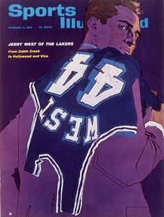 Love old magazine covers, especially illustrated ones like this one with the great Jerry West