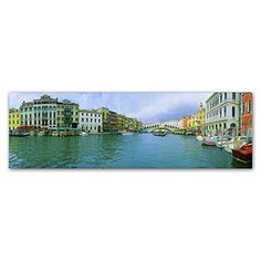"Trademark Art ""Venice Waterways"" by John Xiong Photographic Print on Wrapped Canvas Size: Artist Canvas, Canvas Art, Outdoor Entertaining, Baby Clothes Shops, Canvas Size, Baby Shop, Wrapped Canvas, Venice, Wall Art"