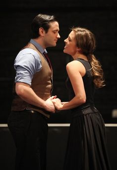 Laura Osnes & Colin Donnell attending the Rehearsal Performance for the Roundabout Theatre Company's Broadway Revival of 'Anything Goes'  at Studio 54 in New York City.