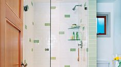 Glass & subway tile | Give your bathroom a new look with these creative ideas for walls and floors