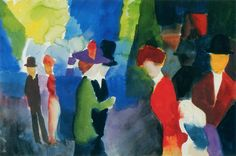 August Macke (January 3, 1887 – September 26, 1914) was one of the leading members of the German Expressionist group Der Blaue Reiter (The Blue Rider). Description from firstforprints.blogspot.com. I searched for this on bing.com/images