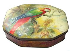 Crawfords, Macaw biscuit tin   1932