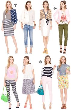 Crew for Spring {Florals & Stripes} thank you j crew Summer Fashion Trends, Spring Summer Fashion, Spring Outfits, J Crew Outfits Summer, Style Summer, Summer Trends, Fall Fashion, Preppy Mode, Preppy Style