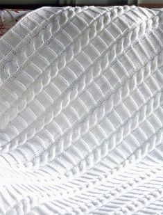 Knitting Pattern for Cable Ladder Blanket - I believe this blanket is an 8 row r. Owl Baby Blankets, Easy Knit Baby Blanket, Free Baby Blanket Patterns, Blue Baby Blanket, Easy Knitting Patterns, Knitted Baby Blankets, Crochet Blanket Patterns, Baby Patterns, Crib Blanket