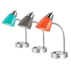 Sleek And Modern Studio Dual Shade Desk Lamps Add Colorful Style To Your Work Space The Flexible Gooseneck Design Allows You Easily Direct Light