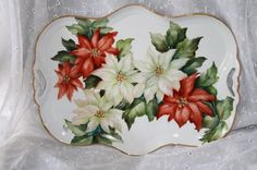 Poinsettia Tray by Cherryl Meggs
