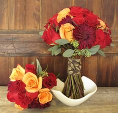 Autumn Bouquet  http://www.floralartvt.com/flowers/red-rose-bouquets-for-september-wedding/