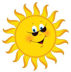 sunshine clip art | Sun Clip Art, Bright Happy Summer Sun Face ...