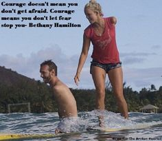 bethany hamilton and Nick (can't remember his last name)  This is an amazing shot and so inspiring!