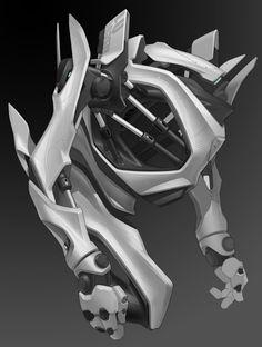 Mecha torso concept by gotcharabbit on deviantART