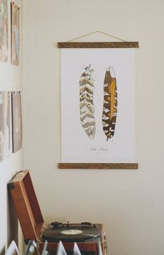 Take your home decor to new heights with this colorful feather illustration! www.mooreaseal.com