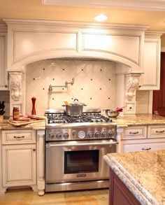 Kitchen Cabinet Over Stove | Faucet Over Stove Design Ideas, Pictures,  Remodel, And Decor
