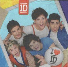 Déco enfant : Serviette papier One Direction 33 cm X 33 cm 2 plis http://fournitures-loisirs.les-creatifs.com/serviettes.php?refer=One-Direction pour la décoration ou collection