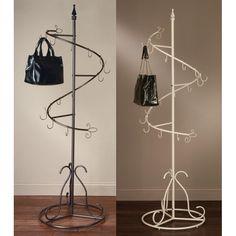 Spiral Purse Tree Retail Rack Display Pointed Top By Tripar