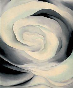 Georgia O'Keafe - Abtraction White Rose