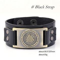 Accessories- Bracelet-Valknut-Wristband Cuff Leather