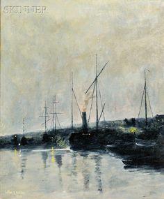 William Edward Norton (American, 1843-1916) Harbor Nocturne. | Auction 2896B | Lot 289 | Sold for $1,230