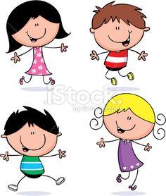 Fun little kids Royalty Free Stock Vector Art Illustration