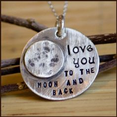 love you to the moon and back... Love this!! great baby shower gift