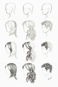How to draw hair. ✤ || CHARACTER DESIGN REFERENCES | Find more at https://www.facebook.com/CharacterDesignReferences if you're looking for: #line #art #character #design #model #sheet #illustration #expressions #best #concept #animation #drawing #archive #library #reference #anatomy #traditional #draw #development #artist #pose #settei #gestures #how #to #tutorial #conceptart #modelsheet #cartoon #hair