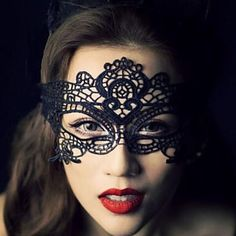 NOW AVAILABLE Sexy Lace Knitting Lace Mask Accessories