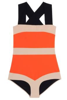 It's like the orange creamsicle version of a swimsuit.