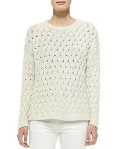 B2TYX THE ROW Wavy-Cable-Knit Sweater