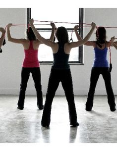 Pure Barre stretch with tube