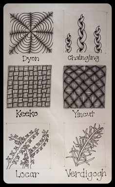 Zentangle® : Tangle Pattern : Practice Page by ha! designs